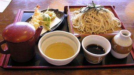 天ざる(600円)+大盛り(150円)