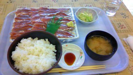 ウルメイワシ刺身(630円)+定食(250円)