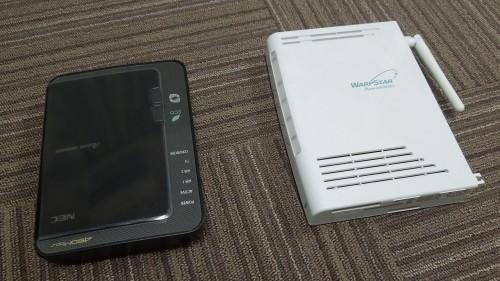 WR9500N(左側)とWR7800H(右側)の比較