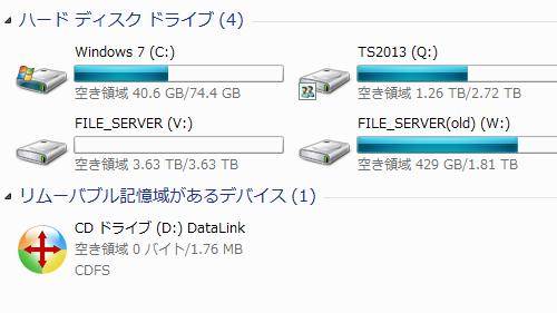 2TB、3TB、4TBのハードディスク