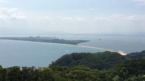 志賀島から眺める福岡市