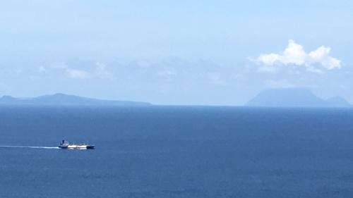 種子島、屋久島も見える