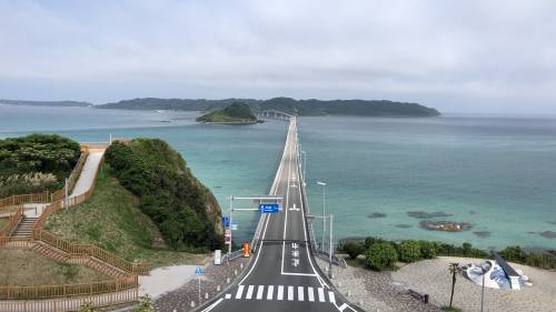 午前中の角島大橋